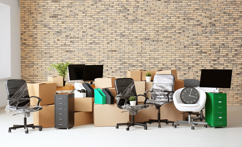 Office furnitures and computers for relocation