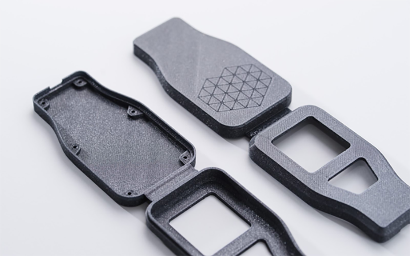Gray object spareparts created from 3D printing