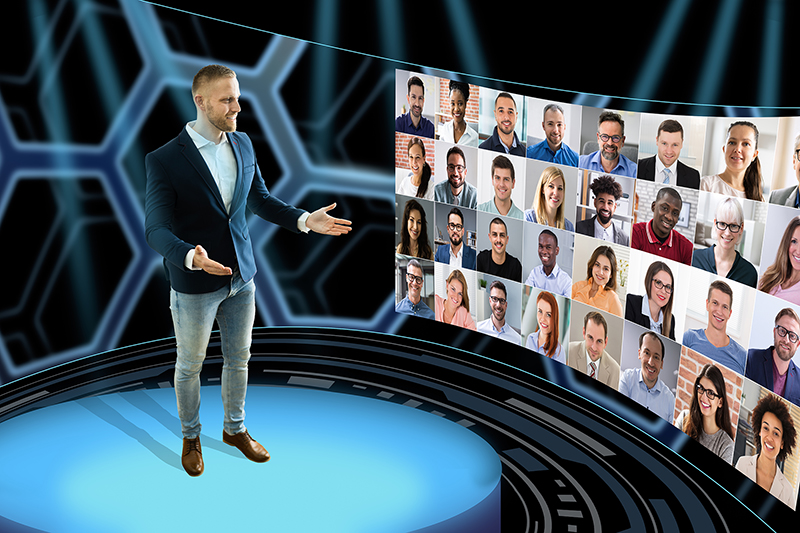 Man hosting a Virtual Event Conference