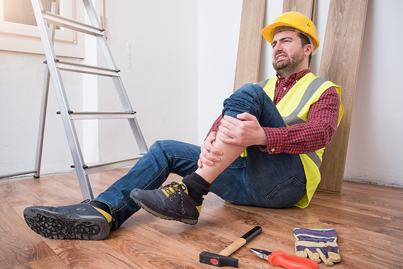 Worker suffering injury on his work