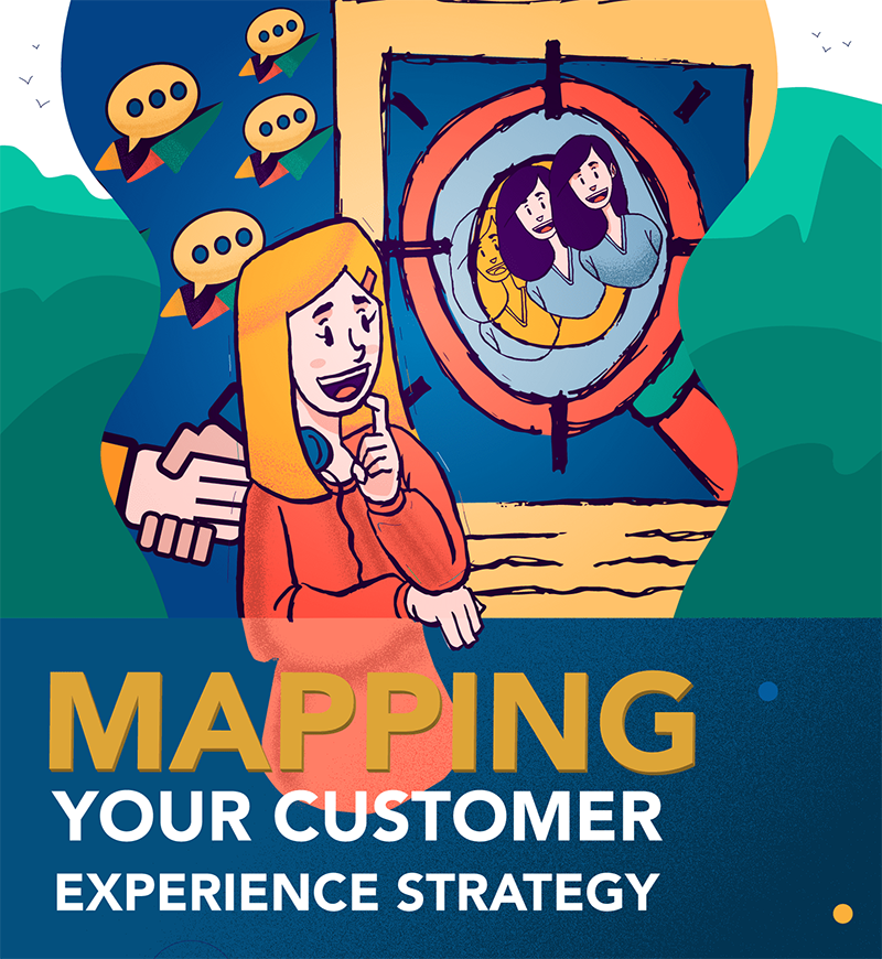 Mapping Your Customer Experience Strategy Illustration