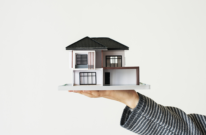 House loan concept isolated on white background