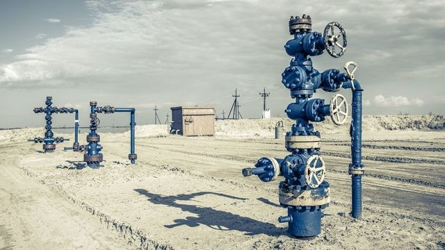 blue gate valves in the field