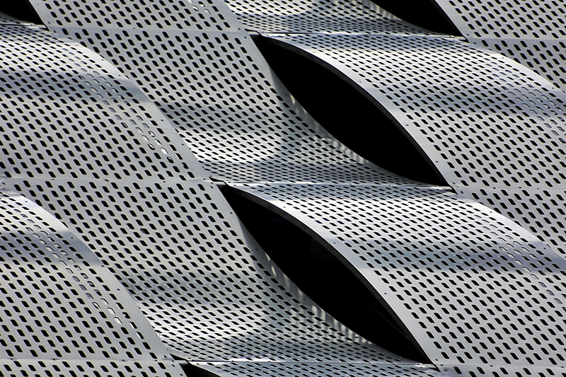 Metal texture with waved pattern