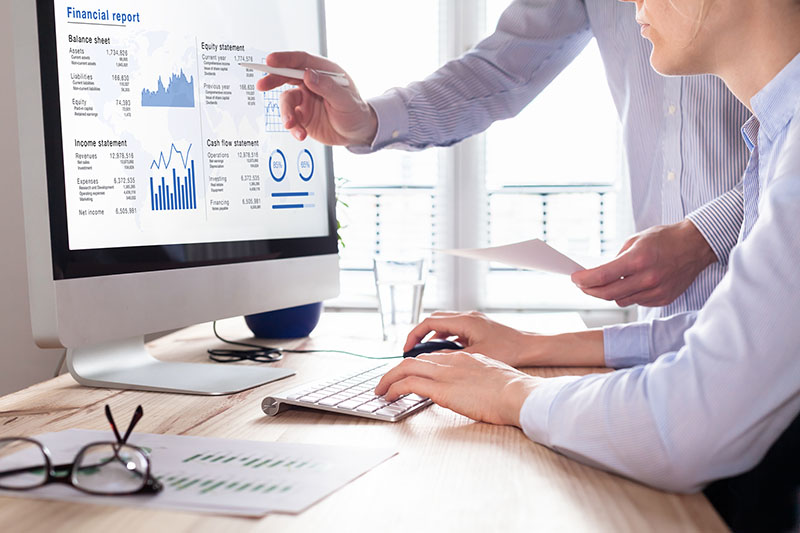 consulting auditors auditing the financial report data of the company