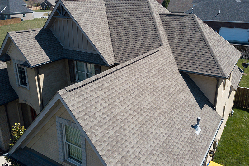 Residential gray roofing