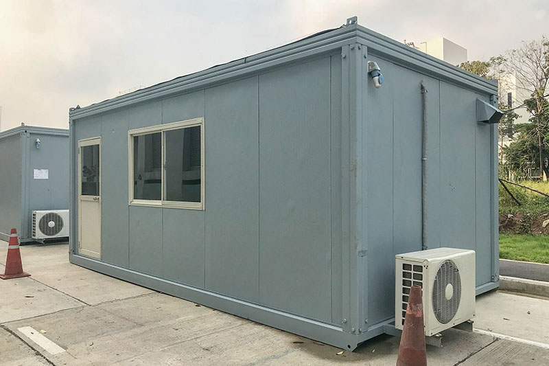 mobile building in industrial site